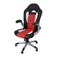 Uredska stolica od umjetne kože u modernom dizajnu - Crvena