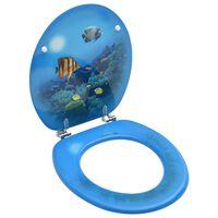 vidaXL Toaletna daska s poklopcem MDF s uzorkom dubokog mora