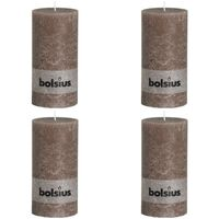 Bolsius Rustikalne stupne svijeće 200 x 100 mm tupe 4 kom