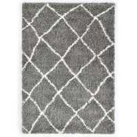 vidaXL Čupavi berberski tepih PP sivi i bež 160 x 230 cm