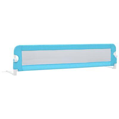 vidaXL Sigurnosna ogradica za dječji krevet plava 180x42 cm poliester