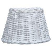 vidaXL Sjenilo za svjetiljku od pruća 45 x 28 cm bijelo