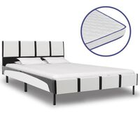vidaXL Krevet od umjetne kože s memorijskim madracem 140 x 200 cm