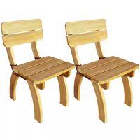 vidaXL Vrtne stolice 2 kom od impregnirane borovine