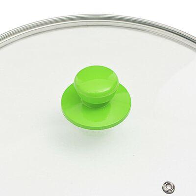 vidaXL 5-dijelni set tava za prženje zeleni aluminijski
