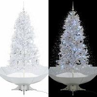 vidaXL Božićno drvce koje sniježi sa stalkom bijelo 190 cm