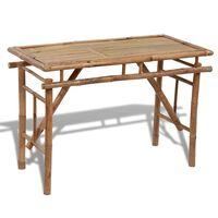 vidaXL Vrtni sklopivi stol od bambusa 120 x 50 x 77 cm