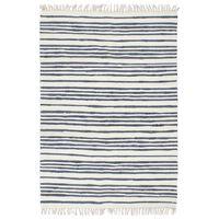 vidaXL Ručno tkani tepih Chindi od pamuka 200 x 290 cm plavo-bijeli