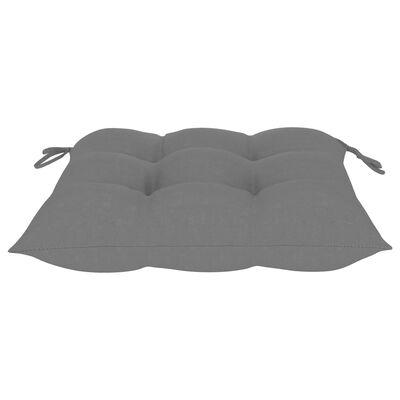 vidaXL Jastuci za stolice 4 kom sivi 40 x 40 x 7 cm od tkanine