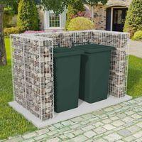vidaXL Gabionska ograda za dvije kante za otpad čelična 180x100x120 cm