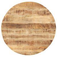 vidaXL Stolna ploča od masivnog drva manga okrugla 25 - 27 mm 70 cm