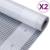 vidaXL Cerade Leno 2 kom 260 g/m² 4 x 4 m bijele