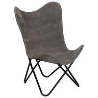 vidaXL Leptir-stolica od platna antracit