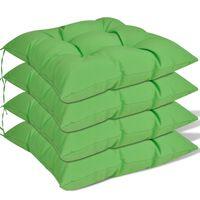 vidaXL Jastuci za Stolice 4 kom 40x40x8 cm Zeleni