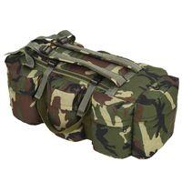 vidaXL 3-u-1 torba u vojničkom stilu 120 l maskirne boje