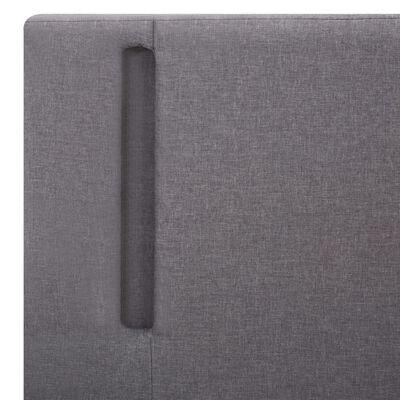 vidaXL Okvir za krevet od tkanine LED svjetlosivi/tamnosivi 90x200 cm