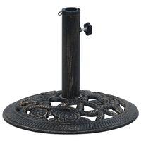 vidaXL Stalak za suncobran crno-brončani 9 kg 40 cm lijevano željezo