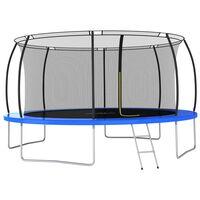 vidaXL Set trampolina okrugli 460 x 80 cm 150 kg