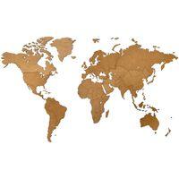 MiMi Innovations zidna drvena karta svijeta Luxury smeđa 130 x 78 cm