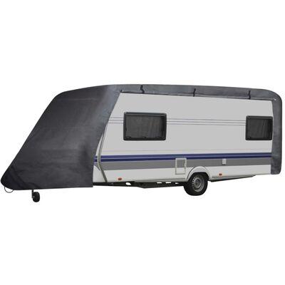 vidaXL Prekrivač za kamp-vozilo sivi S