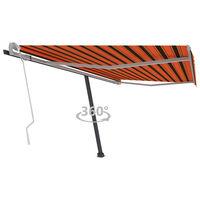 vidaXL Samostojeća tenda na ručno uvlačenje 400x300cm narančasto-smeđa