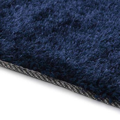 vidaXL Čupavi ukrasni tepih 120 x 160 cm plavi
