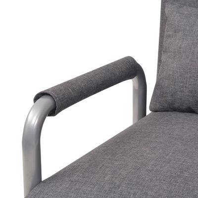 vidaXL Okretna stolica sofa krevet od tkanine tamnosivi