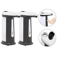 vidaXL Automatski dozatori za sapun s infracrvenim senzorom i zvonom 2 kom 800 ml