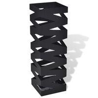 Crni četvrtasti stalak za kišobrane i štapove 48,5 cm