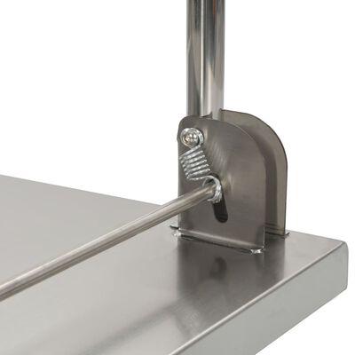 vidaXL Kolica s platformom srebrna 82 x 53 x 86 od nehrđajućeg čelika