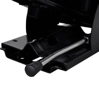 vidaXL Traktorsko Sjedalo sa Suspenzijom Crno