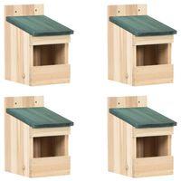 vidaXL Kućice za ptice 4 kom 12 x 16 x 20 cm od jelovine