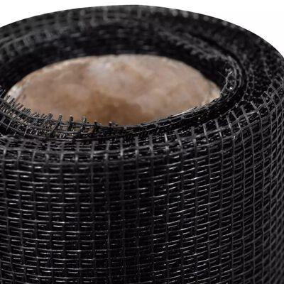 vidaXL Mreža od stakloplastike 150 x 1000 cm crna