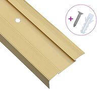 vidaXL Rubnjaci za stepenice L-oblika 15 kom aluminijski 100 cm zlatni