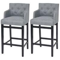 vidaXL Barski stolci od tkanine 2 kom svjetlosivi