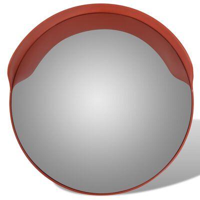 Konveksno vanjsko prometno ogledalo od PC plastike narančasto 60 cm