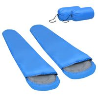 vidaXL Lagane vreće za spavanje 2 kom plave 15 ℃ 850 g