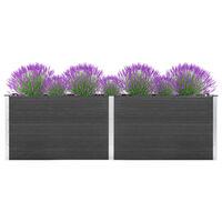vidaXL Vrtna posuda za sadnju 300 x 100 x 91 cm WPC siva