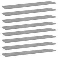 vidaXL Police za knjige 8 kom siva boja betona 100x20x1,5 cm iverica
