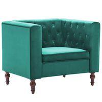 vidaXL Fotelja od baršuna zelena