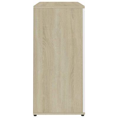 vidaXL Komoda bijela i boja hrasta sonome 80 x 36 x 75 cm od iverice