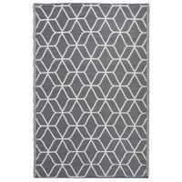 Esschert Design vanjski tepih s uzorkom 180 x 121 cm sivo-bijeli OC25