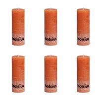 Bolsius Rustikalne stupne svijeće 190 x 68 mm narančaste 6 kom