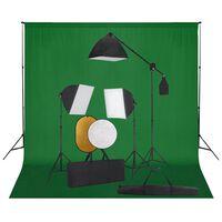 vidaXL Fotografska oprema sa svjetlima softbox, pozadinom i reflektorom