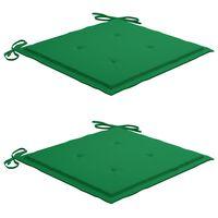vidaXL Jastuci za vrtne stolice 2 kom zeleni 40 x 40 x 4 cm od tkanine