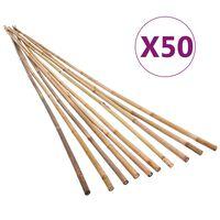 vidaXL Vrtni kolci od bambusa 50 kom 120 cm