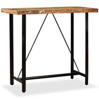 vidaXL Barski Stol od Masivnog Obnovljenog Drva 120x60x107 cm