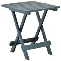 vidaXL Sklopivi vrtni stol zeleni 45 x 43 x 50 cm plastični