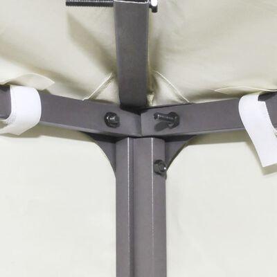 vidaXL Zamjenski pokrov za sjenicu 310 g/m² krem bijeli 3 x 3 m