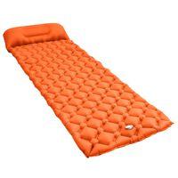 vidaXL Zračni madrac na napuhavanje s jastukom 58 x 190 cm narančasti